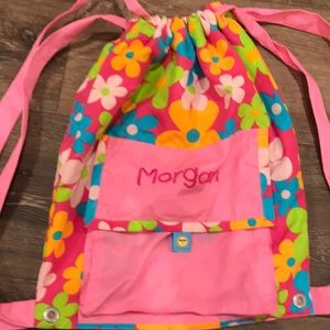 """""""Morgan"""" embroidered draw string bag"""
